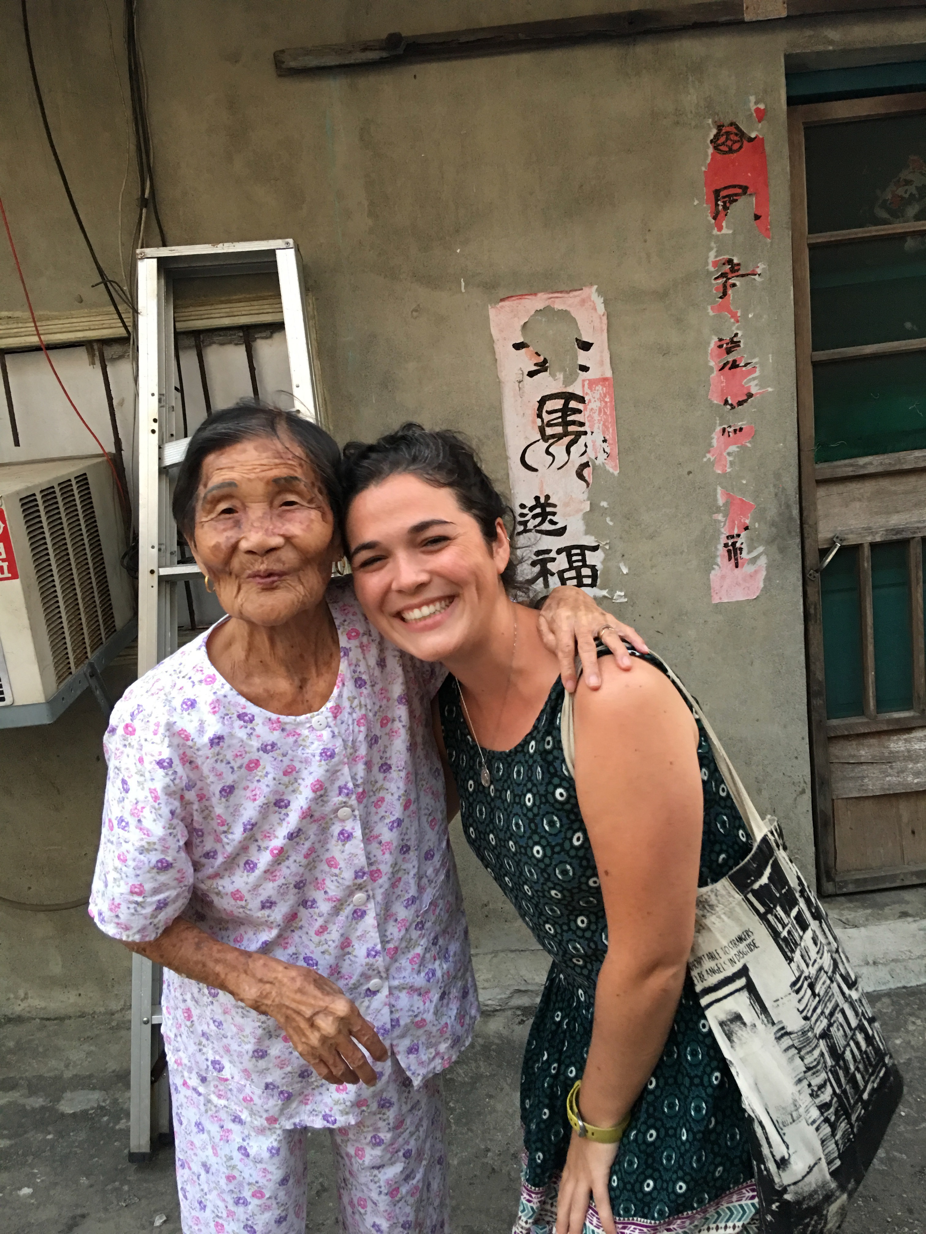 Reagan and her neighbor in Taiwan