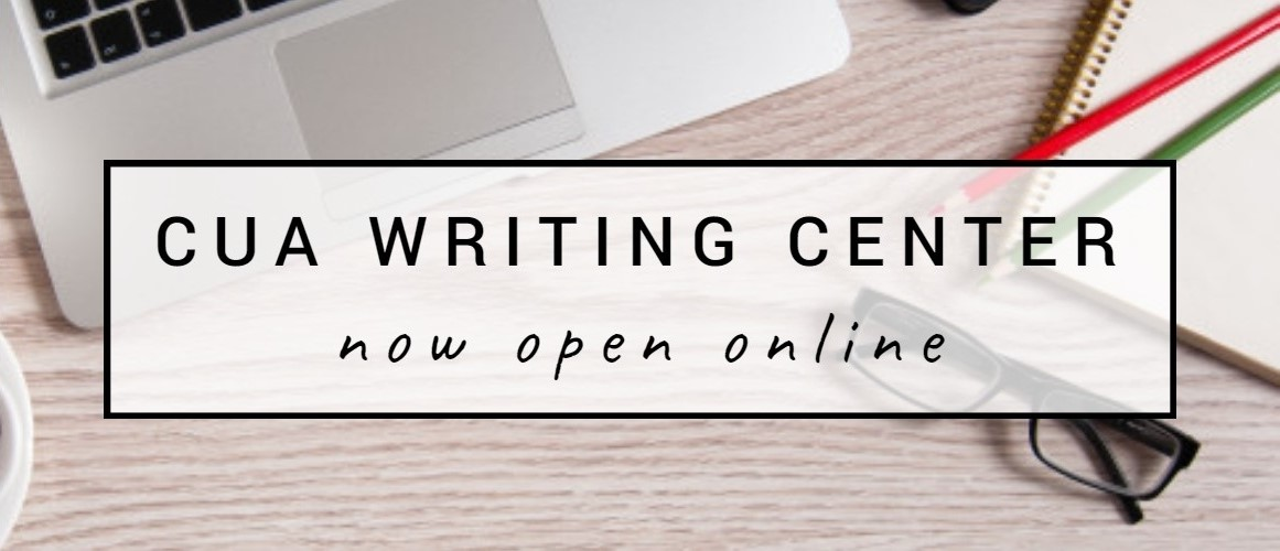 Writing Center is open sign